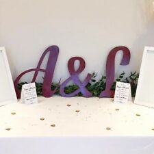 Large Personalised Wedding Initial Letters Backdrop Sign Plaque Event Decor