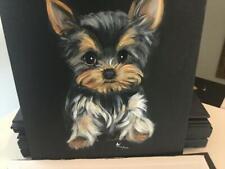 Mischief Yorkie Puppy Original Painting By Monique