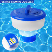 "Floating Chlorine 3"" Tablet Swimming Pool Chemical 7"" Dispenser Collapsible Tank"