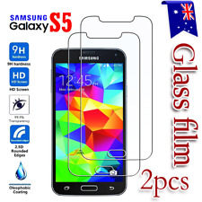 2X Samsung Galaxy S5 Tempered Glass /Plastic Screen Protector Film Guard
