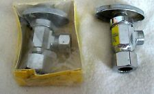 "2 Angle Sink Basin Stop Valves 1/2"" Com x 3/8"" Com(B)..SET OF TWO..NEW IN PKG."