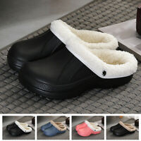 Women's Winter Warm Slippers Indoor Outdoor Clog Plush Lined Warm House Shoes Z