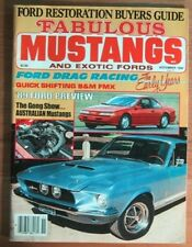 FABULOUS MUSTANGS 1988 NOV - RACING HISTORY, BOSS 9s