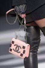 Auth CHANEL Lego Boy Brick Pink Metal Bag Flap Mini Limited