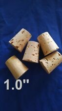 CORK stopper plug round tapered style crafts fishing lab wine all natural    1''