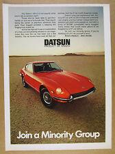 1971 Datsun 240-Z 240Z red car color photo vintage print Ad