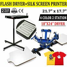4 Color 2 Station Silk Screen Printing Machine 24