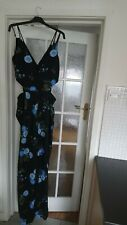 Long Tall Sally curatd Black Floral Jumpsuit Size 14