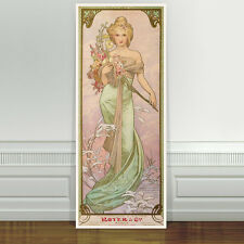 "Stunning Alphonse Mucha Royer ~ CANVAS PRINT 24""X10"" Art Nouveau"
