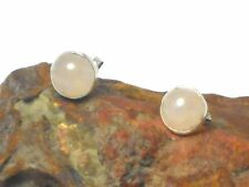 ROSE  QUARTZ   Sterling  Silver  925  Gemstone  Earrings / STUDS  -  8 mm