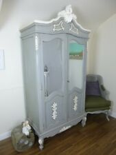 Bordeaux Double Armoire Wardrobe - Shabby Chic French Wardrobe In Mercury Grey