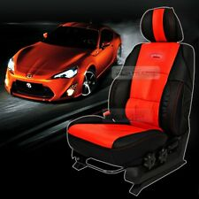 Sports Bucket Seat Cushion Cover Leather Red For HYUNDAI 2013-2016 Grand SantaFe