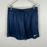 Nike Mens Shorts Large Slim Fit Blue Elastic Waist Drawstring