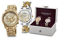 Akribos XXIV Two Tone Watch Set AK676YG 0720