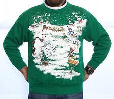 * VINTAGE NORTH POLE IGLOOS UGLY CHRISTMAS SWEATER SWEATSHIRT LG/MEN WMN/XL