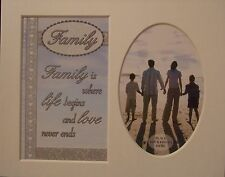 """"""" Family """" Keepsake photo mount to fit 8"""" x 10"""" Living Room Bedroom Home Office"""