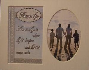 """ Family "" Keepsake photo mount to fit 8"" x 10"" Living Room Bedroom Home Office"