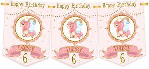 Personalised Unicorn Birthday Bunting,Banner,Birthday Party Bunting for Girl