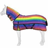 Best On Horse 300g Heavyweight Full Fixed Neck Rainbow Print Winter Stable Rug