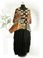PoCo DeSiGn LAGENLOOK Slinky Tunika Shirt Überwurf Overlay L-XL-XXL-XXXL