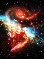 SPIRAL GALAXY NEBULA STARS DEEP SPACE ART PRINT POSTER PICTURE BMP2155B
