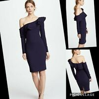 LIKELY NEW navy blue Georgina Ruffle Women's Size 6 Sheath Dress bodycon