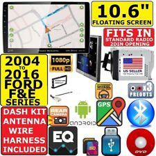 "2004-2016 Ford F & E Series 10.6"" Navigation Bluetooth Cd/Dvd Usb Car Stereo Pkg"