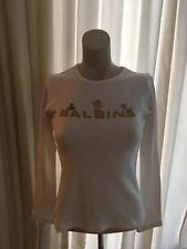 Weisses Langarm-T-Shirt mit Logo-Print, Balbina, Größe XS
