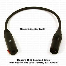 MOGAMI ADAPTER CABLE - TRS JACK to MALE XLR