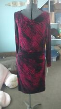 NWT Joseph Ribkoff Digital Print boat neck dress, size 12, retail $203