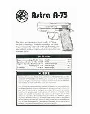 Astra A-75 Instruction Manual With Free Dvd Gun Manual