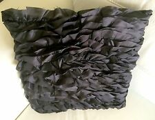 BLACK SCATTER CUSHIONS WITH RUFFLES 40cm x 40cm INSERTS included