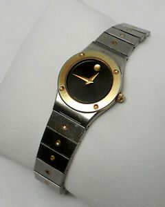 Womens Authentic Swiss Vintage Retro MOVADO Imperial SE Two Tone Stainless Watch