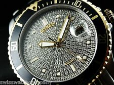 Croton CN301142 Men Limited Ed 1.2Ct Genuine Pave Diamond Dial Auto TT Watch