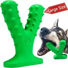 Dog Chew Toys for Aggressive Chewers, Indestructible Tough Dog Toothbrush