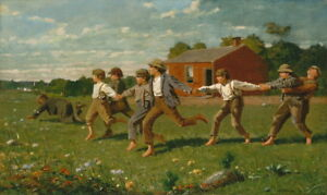 Winslow Homer Snap the Whip Giclee Canvas Print Paintings Poster Reproduction