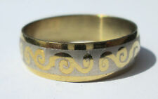 Gold Stainless Steel Ring - Size 9  (19mm)