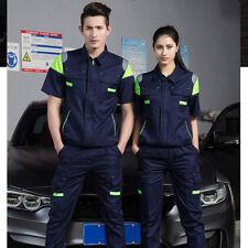 Men Women Short Sleeves Suit Cotton Work Uniform Jacket Pants Clothing Unisex