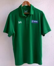 NBA COMBINE UNDER ARMOUR HEAT GEAR LOOSE FIT GREEN POLO SHIRT LARGE