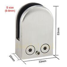 8pcs Shower Wall Floor 304 Stainless Steel Glass Clamp Clip Bracket Holder 6-8mm