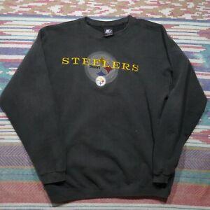 Vintage Starter Pittsburgh Steelers Sweatshirt Adult XL Black Football NFL Mens