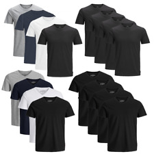 JACK & JONES Herren T-Shirt 4er Pack Basic O-Neck V-Neck Shirt S M L XL XXL