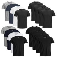 JACK & JONES Herren T-Shirt 4er Pack Basic O-Neck V-Neck Shirt S M L XL XXL