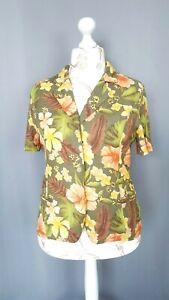 Veste femme Vintage imprimé fleure parfait état Taille L FR44 US12 UK16 EUR42