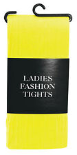 Yellow Halloween Ladies Fashion Tights Yellow Elf Xmas Party Fancy Dress