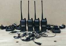 Baofeng UV-82 Two Way Radio Lot of 4 Radios with chargers, 3 extra headset piece