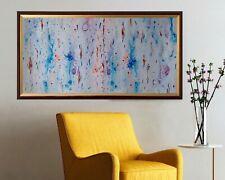 Leinwand Bild mit Bilderrahmen, Handmade Abstrakt Gemälde (52 cm x 97 cm)