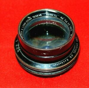 5 X 7 Bausch & Lomb - Zeiss Tessar Series Ic Lens 190mm Early Vintage 1735804