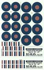 "Colorado Decals 1/48 R.A.F. TYPE B ROUNDELS 56""-63"""