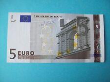 DEFAUT IMPRESSION BILLET PRESQUE NEUF 5 EURO FRANCE L 022 F 3 SIGNATURE TRICHET